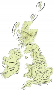 イギリスの地方の人のステレオタイプ