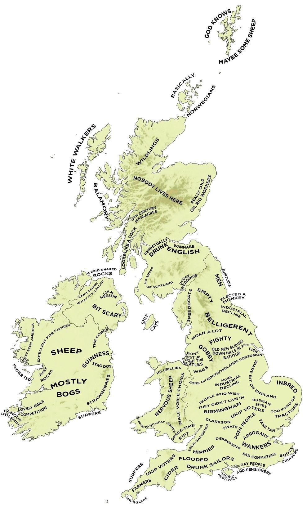 イギリスが考えるイギリスの地方の人のステレオタイプ一覧ガイド!(笑)