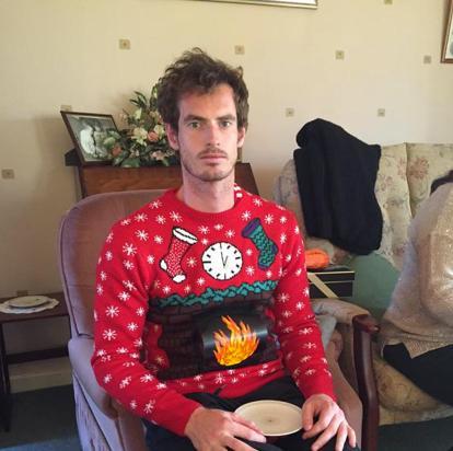 アンディ・マレーのダサいクリスマスセーター