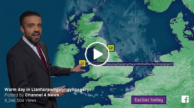 イギリス(ウェールズ)の最も長い町名に関する面白動画